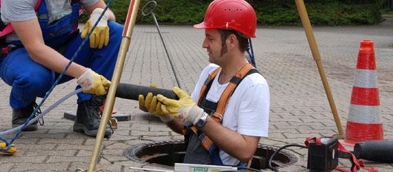 Sachkundige für die Prüfung von Abwasserleitungen